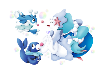 Popplio line by Pixellem