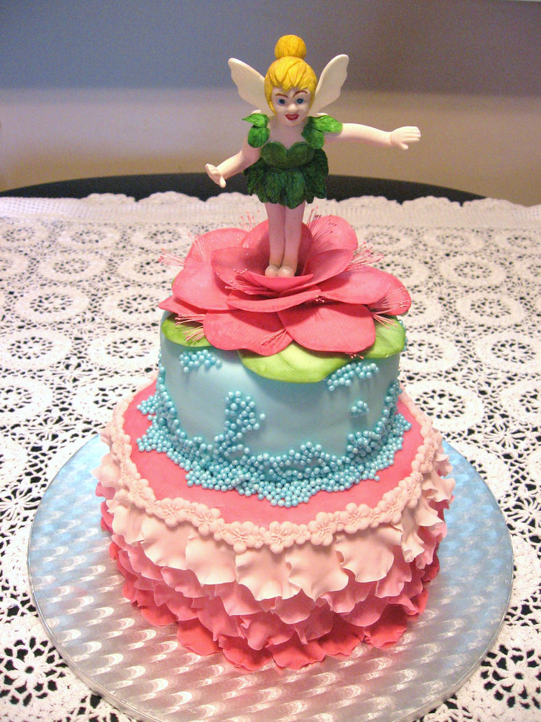 Tinkerbell Birthday Cake By Lenslady On Deviantart