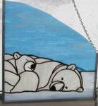 Stained Glass Polar Bear by lenslady