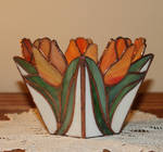 Tulip Vase in Stained Glass