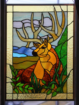 STAINED GLASS ELK
