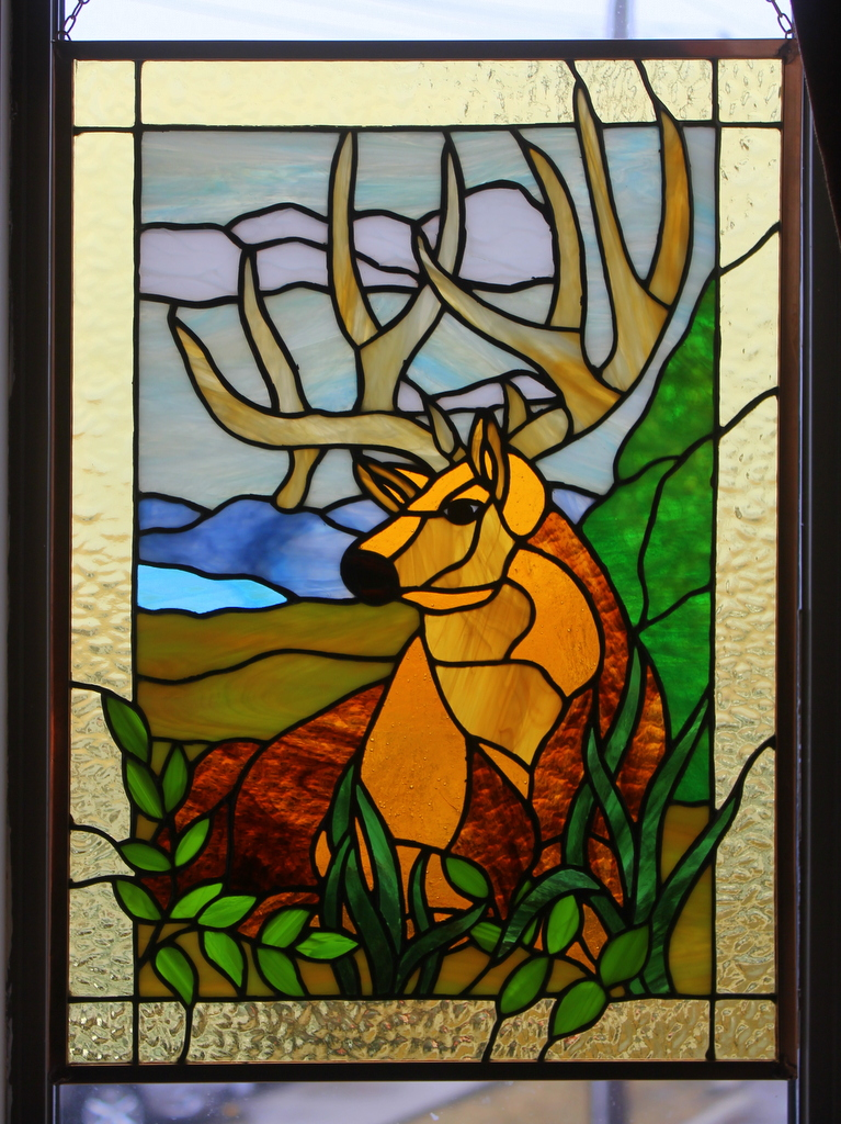 STAINED GLASS ELK by lenslady