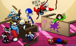 ATC Food Fight (Draw The Squad Base) by CAcartoon