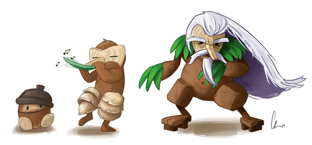 Seedot Nuzleaf And Shiftry By Chuck18mp On Deviantart