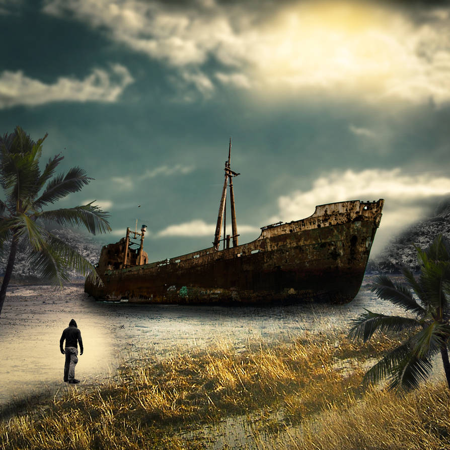 Navio-abandonado