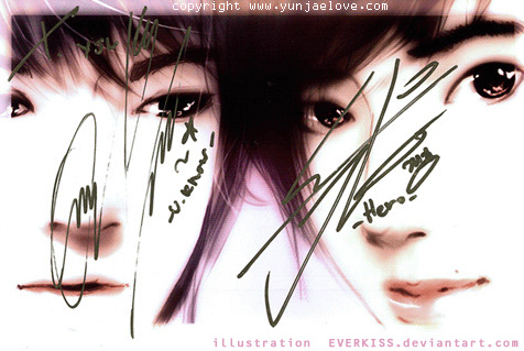 Autograph from Yunho jaejoong by EverKiss