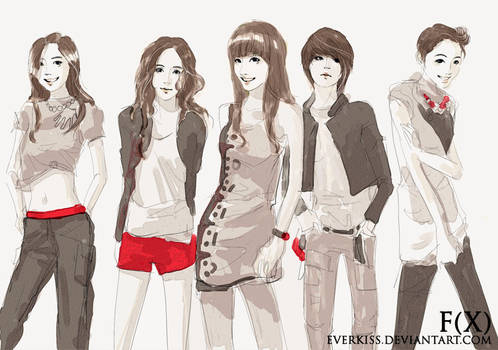 FX  with shinee pose