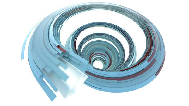 Monthly Rendering 2021-02 Blue Spiral