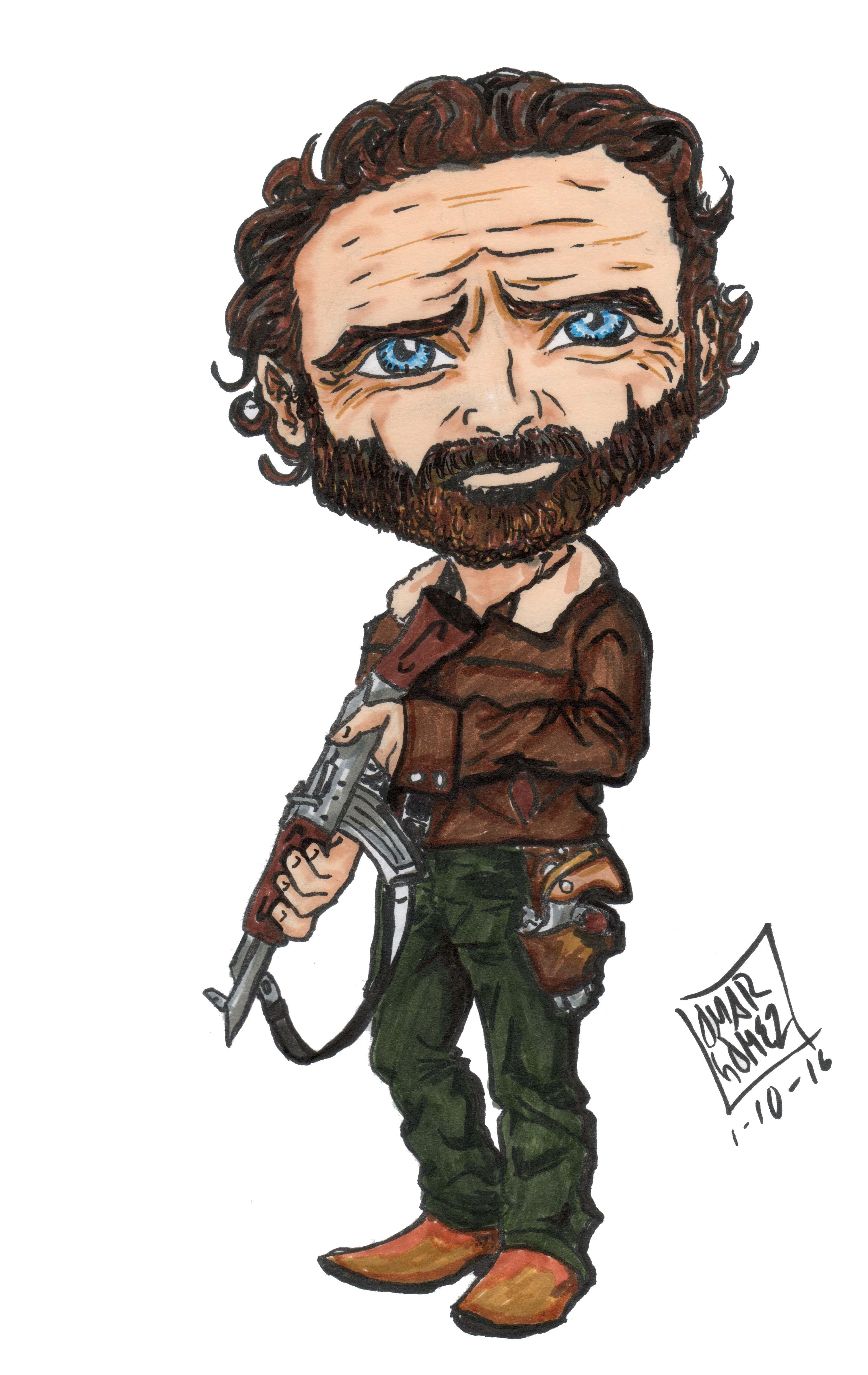 Rick Grimes by UrsusOmar