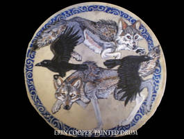 Wolf Hunt Drum by Shadowind