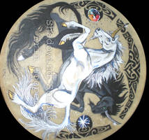 Ying Yang Unicorn Drum by Shadowind