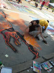 Chalk Walk 2011 in progress by Shadowind
