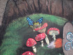 Chalk Walk ~close up frog by Shadowind
