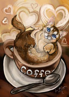 Coffee Cat by Shadowind
