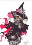 Inktober 2018 Witch Cat