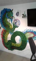 Work in Progress Basement dragon mural by Shadowind