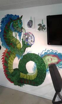 Work in Progress Basement dragon mural