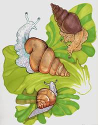 Some more Inktober Snails