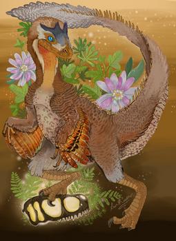 Paleo Art Raptor Progress