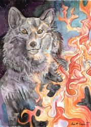 Ember Eyes Wolf