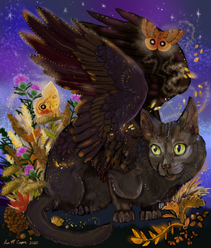 Raven Winged Autumn Cat