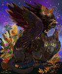Raven Winged Autumn Cat