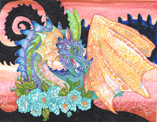 Springtime Pastel Dragon
