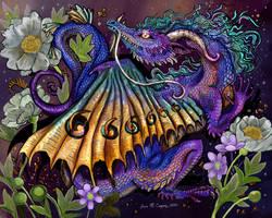 Garden Dreams Floral Dragon