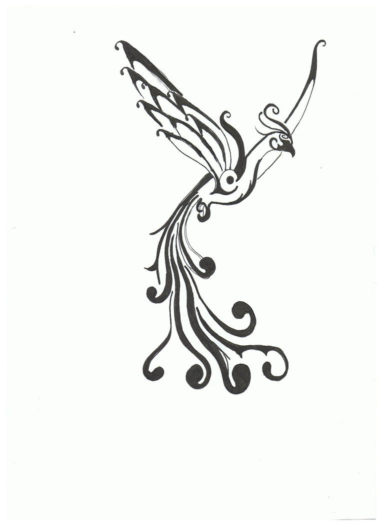 Phoenix Tattoo draft one by ~Shockerloba on deviantART
