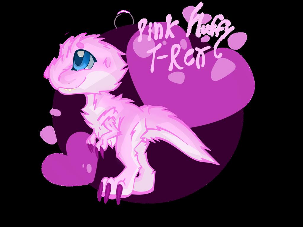 Pink Fluffy T-rex