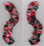 Black and red scales bracelet