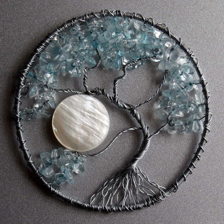 Wirewrap explore wirewrap on deviantart kl wiredream 241 11 silver and light blue tree of life pendant by craftymama mozeypictures Image collections