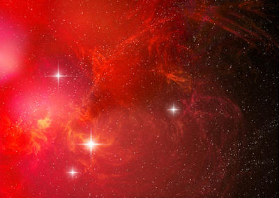 Red space nebula by PJuric