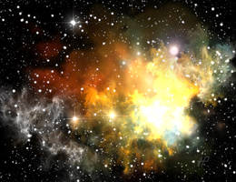 Colorful space nebula by PJuric