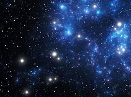 Blue space star nebula by PJuric