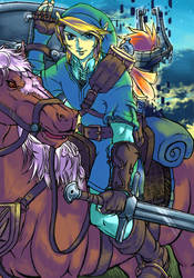 Link,midna and epona by SFDwashere