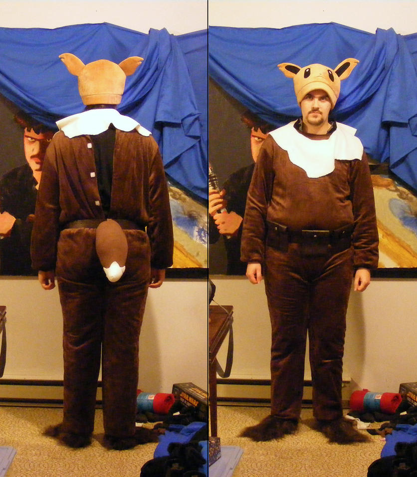 Eevee Cosplay WIP 3 (Front and Back) by unownace