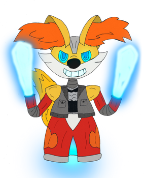 Dominic the Delphox Robot (For Masterge77)