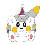 A Togedemaru with a Party Hat