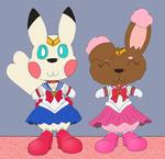 Yuki Sailor Moon and Buneary Chibi Moon