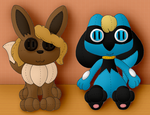 Eevee and Riolu 'Plushies' (For SkizzleChizzle)