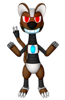 Alex the Roboweasel (For Masterge77) by Unownace