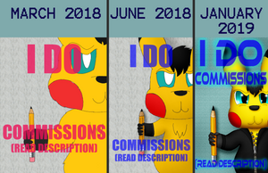 I Draw Commissions (One Year of Improvement) by Unownace