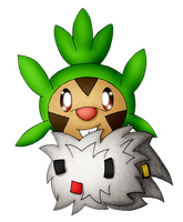 Chespa (Chespin Spewpa Fusion) For BRUMMINGTON by Unownace