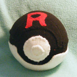 Team Rocket Pokeball Plush (For danielseguin1) by Unownace