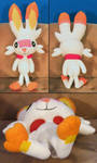 Tracey Scouter the Scorbunny Plush (FOR SALE!) by Unownace