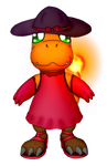 A Charmander's Party Dress (Commission)