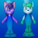 Fiona and Zapzap's Mercat Suits (For deathlordgun)