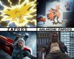 Zapdos and Galarian Zapdos Meme