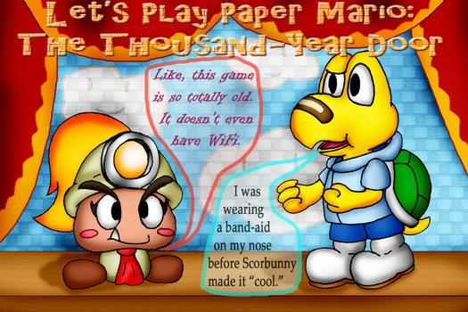Paper Mario: The Thousand Year Door LP Cover